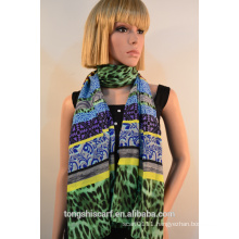 polyester printed rectangle scarf 096-01 Y461
