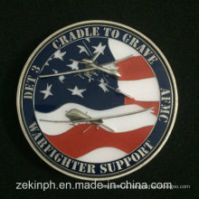 Дешевые пользовательские эмаль армии США монетки возможности металла