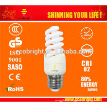 New! E27 Mini Full Spiral CFL Lamp 9W 10000H CE QUALITY