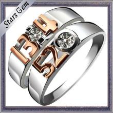Anillo de la joyería de los pares de la boda de la manera de la plata esterlina del amor 925 del forever