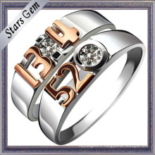 Forever Love 925 argent Sterling mode mariage couple bijoux bague