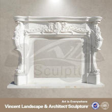 marble mantel with angel statues