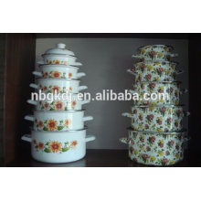 5 pc customized enamel stock pot set