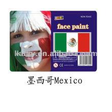 peintures pour le visage multi couleur