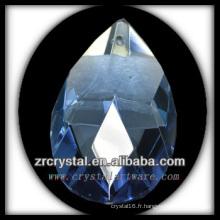 K9 Pendentif Lustre en Cristal Bleu