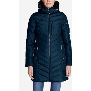 Manteau d'hiver en fourrure matelassée et longue parka