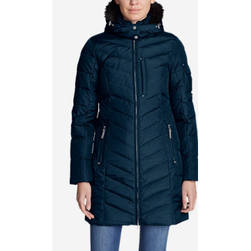 Winter quilting fur coat outwear plus long parka