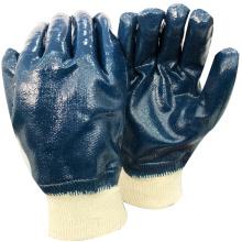 NMSAFETY trabalho leve uso azul nitrilo pesado dever proteger luvas de trabalho luvas