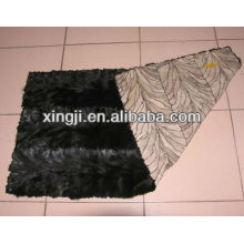 Natural color mink fur top quality mink fur plate back paw