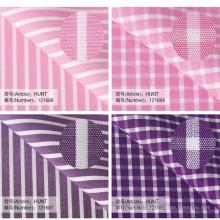 tela del spandex de algodón para el proveedor chino de la camisa de vestir de los hombres