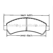 D726 OE18029791 pour CHEVROLET TRUCK OLDSMOBILE plaquette de frein en céramique