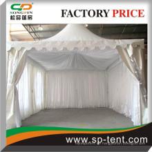 Weiß oder beige oder schwarz gefaltet Satin Zelte Linings für alle Arten von Zeltarten und Größen von Songpin Zelt gemacht
