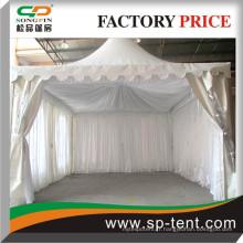 Toiles en satiné blanches ou beiges ou noires pliées pour toutes sortes de types et tailles de tentes réalisés par Songpin Tent