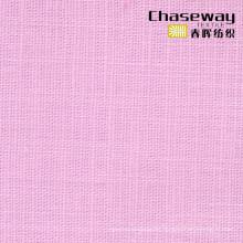 95% Algodón / 5% Spandex Slub Tela lisa con textura de lino de estiramiento