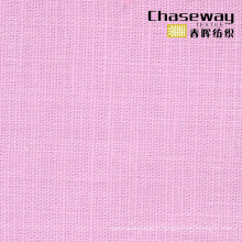 95% coton / 5% Spandex Slub Tissu simple avec texture de lin étiré