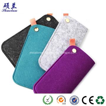 Easy carrying durable felt bag for eyeglasses