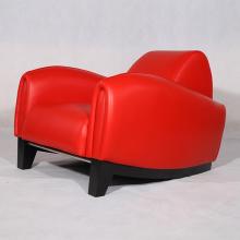 Réplique de chaises en cuir Franz Romero Bugatti de meubles modernes