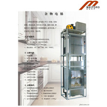 Restaurant Good Quality Dumbwaiter Elevator with Hairless Stainless Steel