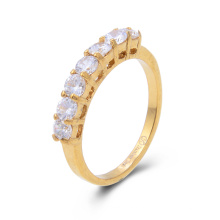 18k золото покрыло CZ камень женщин кольцо обручальное обручальное кольцо