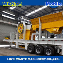 ISO mini mobile stone crusher machinery for mobile concrete plant