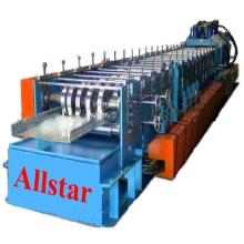 Automatique galvanisé acier câble plateau Roll formant Machine presse poinçonneuse