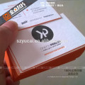 Raised ink business cards, recycled paper business cards