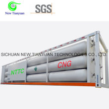 8 Long Jumbo Tubes 40ft Container Semi-remorque