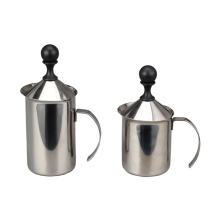 Edelstahl-Handpumpen-Milchaufschäumer