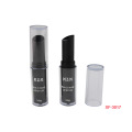 Cylindrical Clear Black Makeup Lipstick Container