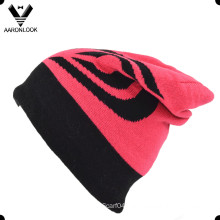 High Quality 100% Acrylic Jacquard Double Layer Ski Beanie