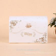 Caja de embalaje de PVC esmerilado para toalla facial con impresión de logotipo personalizado