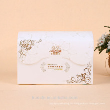 Коробка шоколада упаковка ПВХ для полотенце для лица с изготовленным на заказ печатанием Логоса