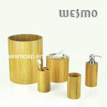 Accesorio cilíndrico del baño de bambú (WBB0326C)