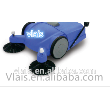 Hand Push floor sweeper , Double rotating brushes 18kg rotary sweeper brushes