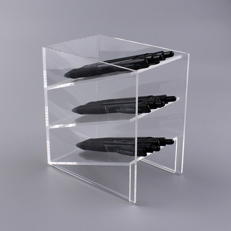 Custom Acrylic Pen Holder Organizer For Desk