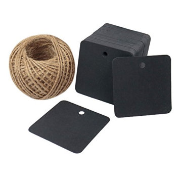 High End Custom Tag Paper Thickness Paper Black Hang Tag