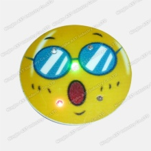 Pin clignotant, badge clignotant LED, cadeau promotionnel, pince LED