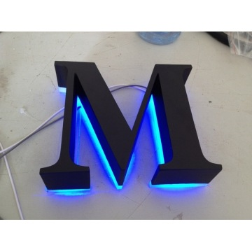 Polished Brushed Vintage Metal Backlit Signage Letters LED 3D Illuminated Channel Letters Signs for Advertising Customized