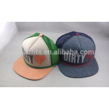 cotton / ployester promotional trucker mesh cap / fashion foam truck mesh hat
