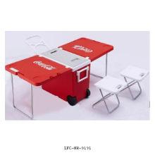 Président et table congélateur de réfrigérateur de Campmaster 28L, glacière en plastique