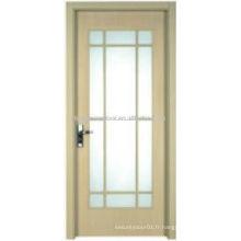 Design de porte de salle de bain Fieber avec verre