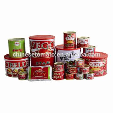 Exportador de pasta de tomate fornecendo pasta de tomate Halal