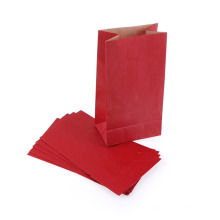 Manija de color plegable bolsa de regalo de papel pequeño bolsillo personalizado