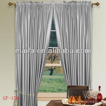 24 Colors Rod Pocket 100% Polyester Plain Blackout Curtains Nursery