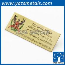 Etiquetas de produtos metálicos para roupas ou portas