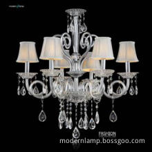 Luxury antique lampshade chandelier,residential lighting pendent lamp
