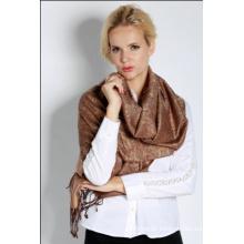 Ladies Fashion Silk Blended Jacquard Shawl