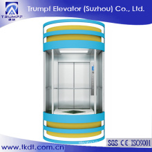 Machine Room Less Glass Elevator