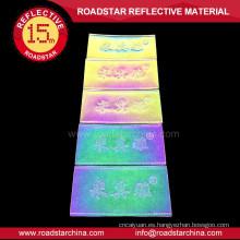 etiqueta del remiendo de cuero reflectante colores baratos personalizados
