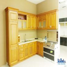Armários de cozinha de madeira sólida modulares estilo americano